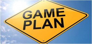 Game plan sign